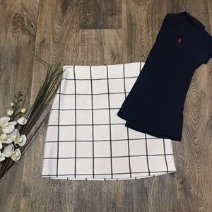 H&M Windowpane Check Skirt Size 8